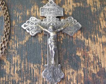 Ornate Crucifix w Scripture on back