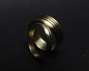 Threaded ring off brass
