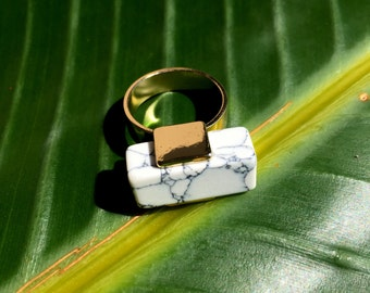ZW marble bar ring