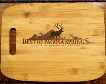 YOUR LOGO-Personalized Gifts for Clients, Bamboo Cutting Board, Customized, Name Gift, Branding. Promotional Gifts