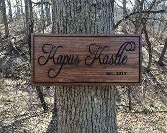 Family sign, Custom Cabin/Lake house, Wood Sign, Carved Wooden Sign, Personalized Wooden Sign, Carved Wood Sign with Names
