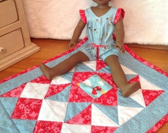 Wistful Winds doll quilt for 13-16 inch dolls
