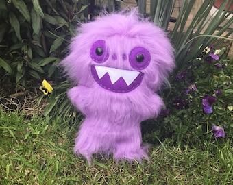Purple Monster Plush Toy Creepy Cute Weird Stuffed Animals Yeti Toys Ugly Horror Plushie OOAK Art Doll Scary