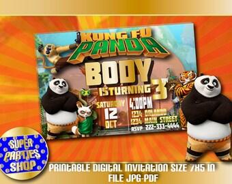 Kung Fu Panda Digital  Printable Invitation , Custom Party,Kung Fu Panda ,Birthday,Party, Supply, Kit, Pack, Custom