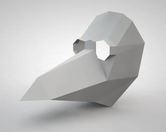 Plague Doctor Mask | Paper Mask | Papercraft 3D DIY kit
