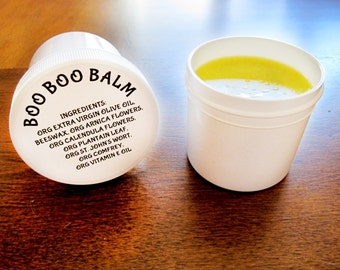 Boo Boo Balm - Organic Salve for Itchy Skin, Bruises, Burns, Scrapes, Inflammation, Diaper Rash, Insect Bites - 2oz Self Care Healing Salve