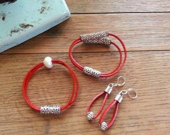 Leather Bracelet Set