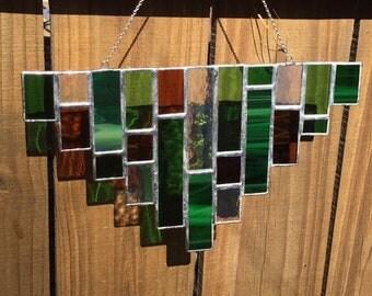 Geometric Rectangle Glass Art