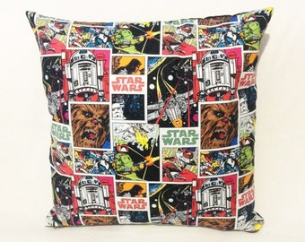 Star Wars Comic Chewbacca R2D2 Boba Fett DarthVader Stormtrooper Cushion