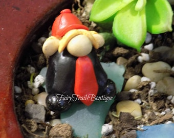 Donald Trump Gnome ~ Fairy Garden ~ Dollhouse Miniature Accessory ~ Hand Sculpted Figurine