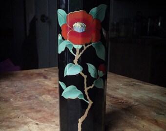 Red Camellia Vase