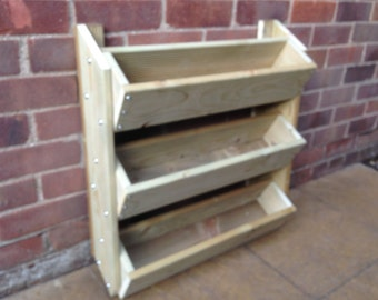 3 tier Wall mounted planter for Herbs/Flowers/Strawberries