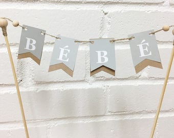 Cake Topper pennants, Baby shower, baby flags, Cake Decoration, party decoration, Flag