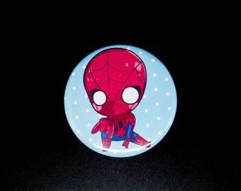 """Spiderman pins button magnet keychain 2.25"""""""