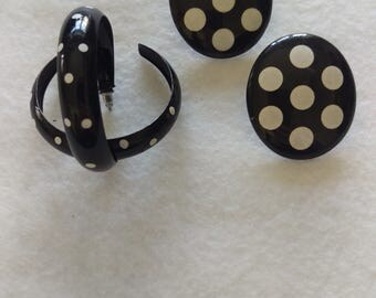 Vintage Style Polka-dot Earrings