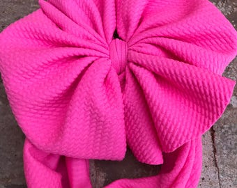 Neon pink  Head wrap