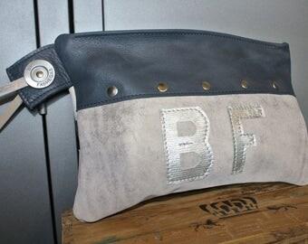 ZANZIBAR Beige leather pouch