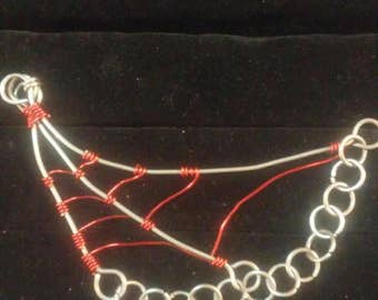 Steel Spiderweb neck piece