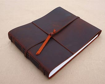 Custom leather guest book personalized wedding guest book wedding photo album scrapbook album vintage leather album FREE STAMP