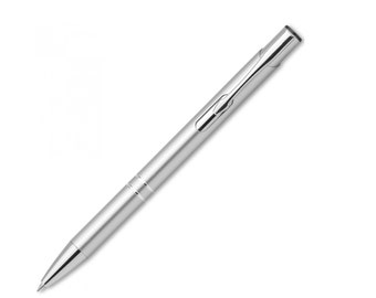 Ballpoint pen metal ballpoint pen with engraved gift silver