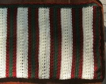 """84""""X64"""" Full/Queen - handmade afghan blanket"""