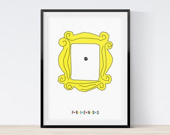 friends tv show poster friends tv show picture frame 90s sitcom friends tv show print printable art