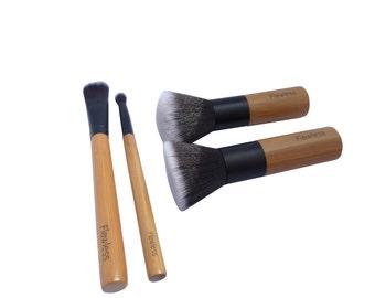 Makeup Brush Base Set #104 - Bamboo 100% Vegan and Cruelty Free