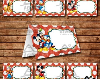 Mickey Mouse Birthday Tent Card Mickey Mouse Birthday Mickey Birthday Tent Card Disney  sc 1 st  Etsy : mickey tent - memphite.com