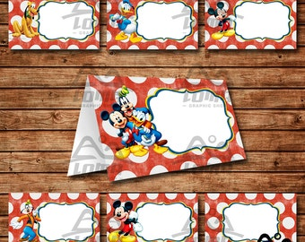 Mickey Mouse Birthday Tent Card Mickey Mouse Birthday Mickey Birthday Tent Card Disney  sc 1 st  Etsy & Mickey tent card | Etsy