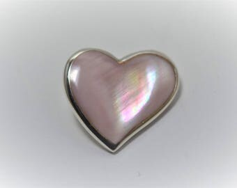 Sterling Silver Small Pink Heart Charm
