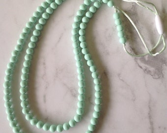 Silicone Teething Necklace - Mint