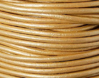 Leather Cord 1.5mm round Gold