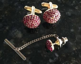 Vintage jeweled pair of cuff links by Dante