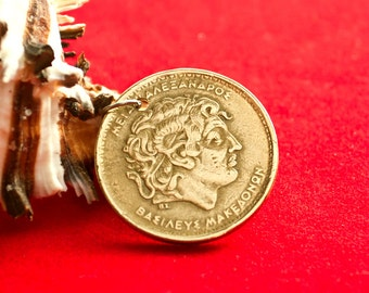 Coin Alexander The Great, necklace with a Greek coin, Coin pendant,Greek coin jewelry
