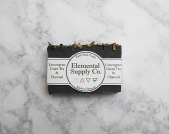 Lemongrass, Green Tea and Charcoal Soap