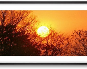 "Framed panoramic photography. ""Sunset"""