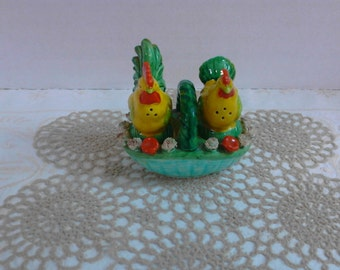 Reserved *Rooster and Hen Salt Pepper Shakers