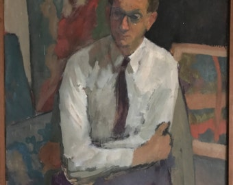 Oil painting- Georges Saul, 1960