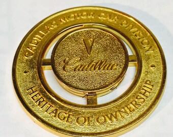 Gold Plated Cadillac Emblem