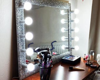 Glitter vanity mirror