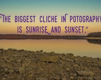 Cliché - Customizable Poster - Choose Quote, Font, Color
