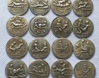 set of rare ancient spintriae Erotic coins reproductions