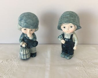 vintage porcelain handmade figures beautiful gift for home decor