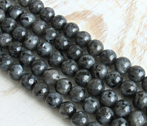 Black Moonstone 8mm, Larvikite beads, black labradorite ...