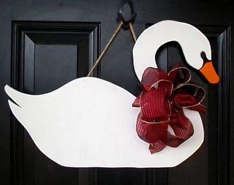 Swan Door Hanger