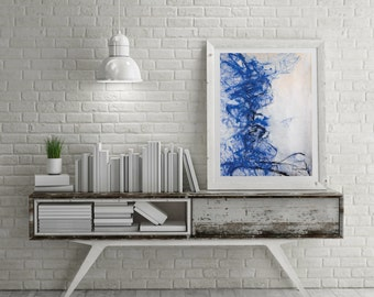 Abstract Painting High Quality Print A3