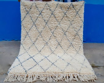 Moroccan Rug Beni Ourain handmade 100% wool rug Grey professionell washed