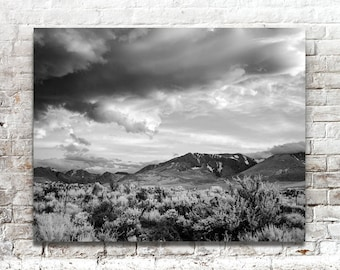 Eastern Yosemite Valley Photo, Black White Photography, American West, Scenic Landscape Photography, Wall Art, Wall Decor, National Parks