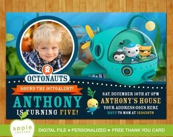 Octonauts Invitation, Octonauts Birthday, Octonauts Party, Octonauts, FREE Thank you Card!