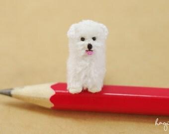 Miniature Maltese, Crochet tiny Maltese, Tiny amigurumi animals